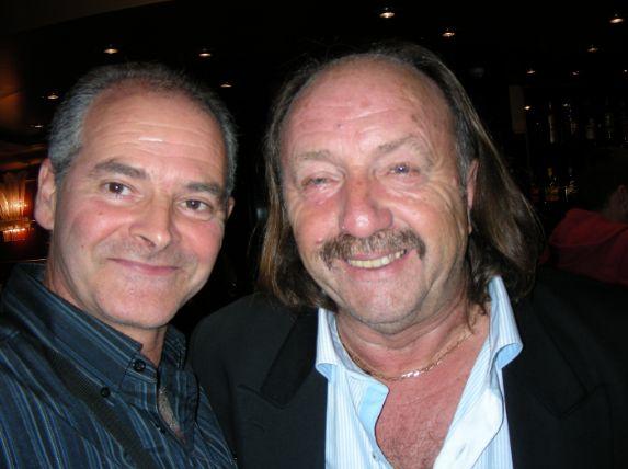 Patrick et moi lors du concert de Claude Barzotti à Pallavas les flôts