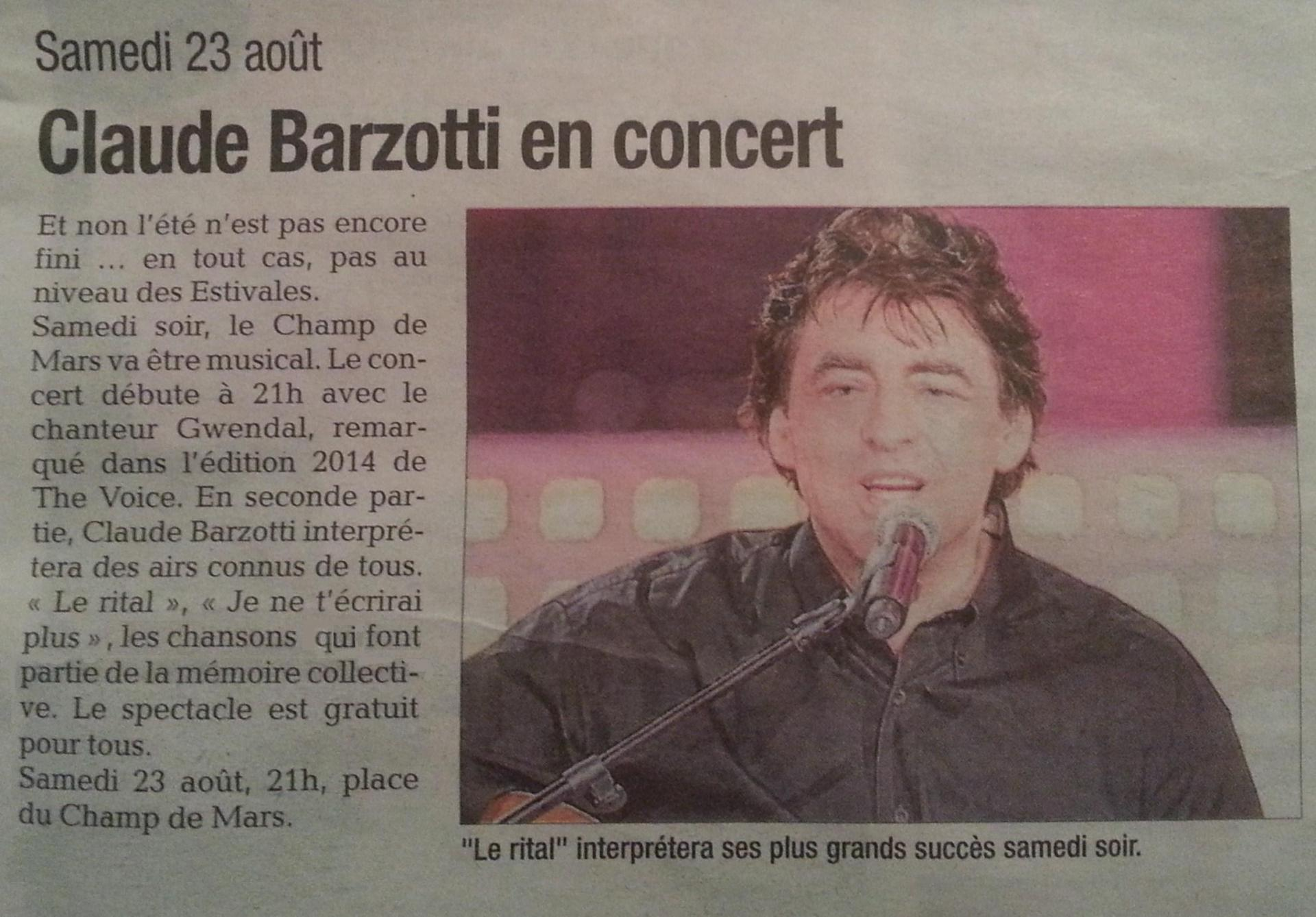 presse Barzotti Pierrelatte 23 aout 2014