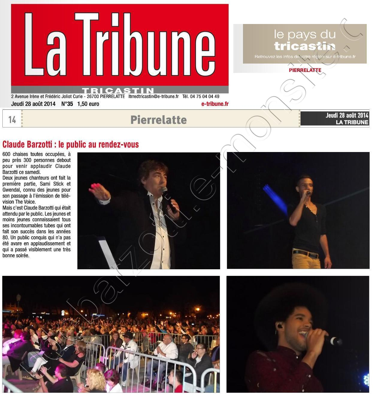 La tribune Pierrelatte jeudi 28 août 2014