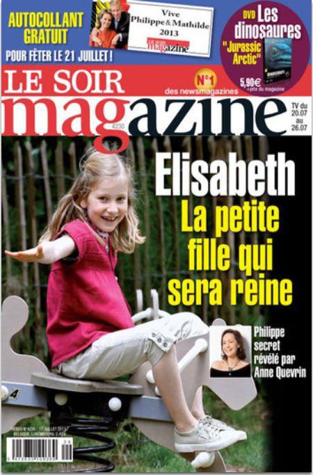 couverture de la revue le soirmagazine du 17 juillet 2013