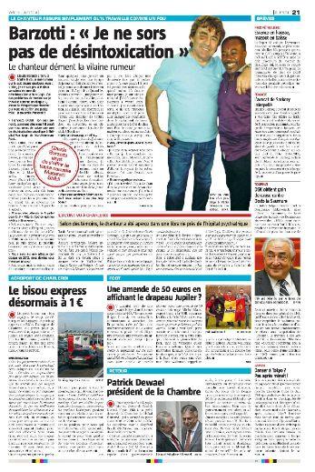 Presse Barzotti article Sud presse Belgique
