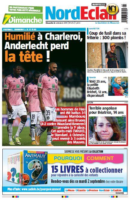 Sud presse La province dimanche 23 novembre 2014