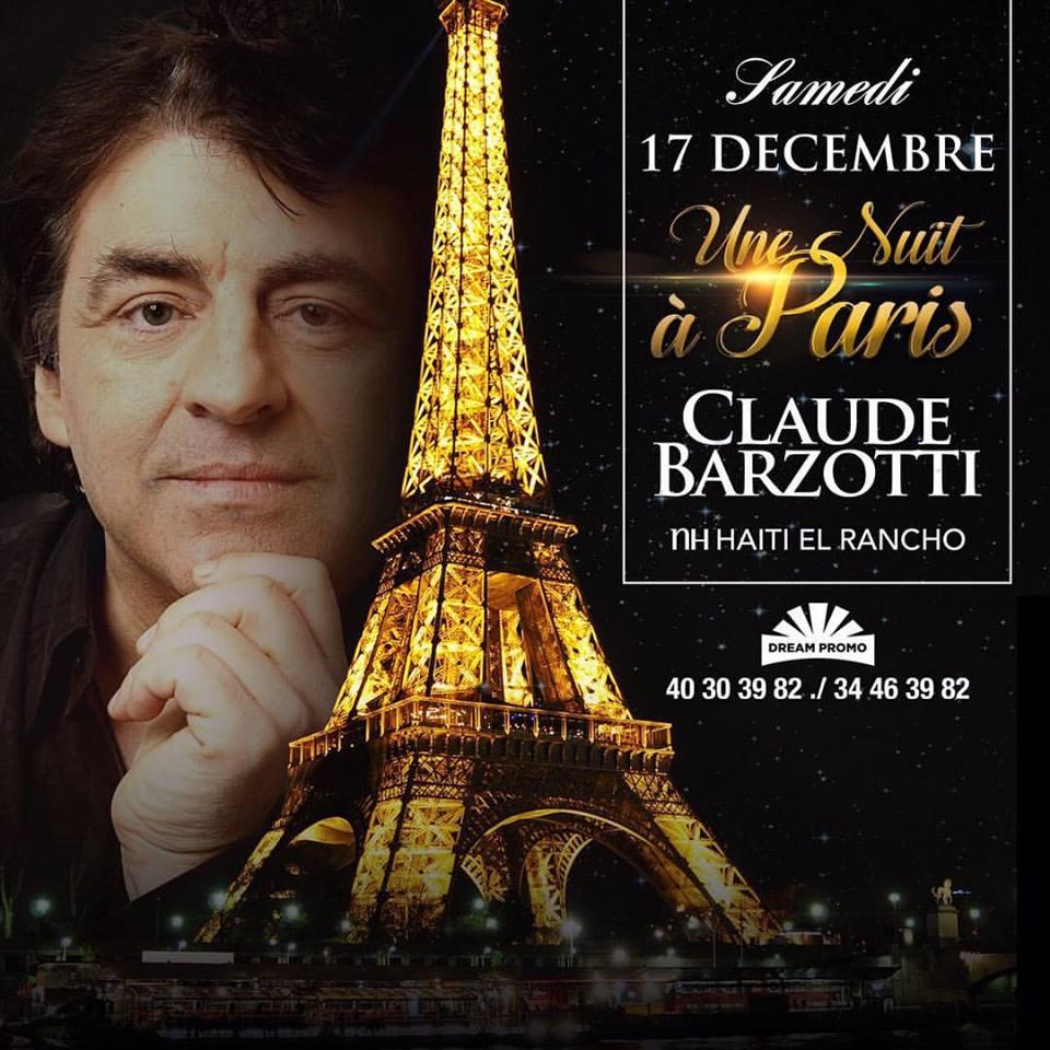Haiti concert claude barzotti le 17 d cembre 2016 for Une nuit a paris