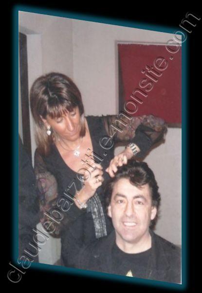 Claude Barzotti chez Valérie Coiffure