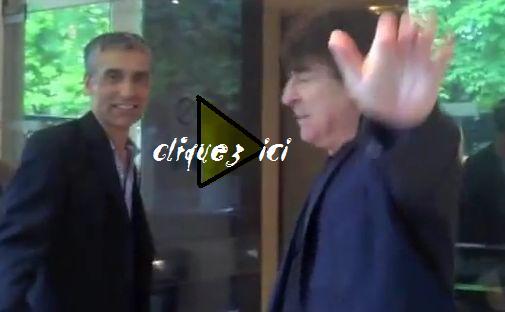 extrait vidéo arrivée de Claude Barzotti au studi Gabriel à Paris