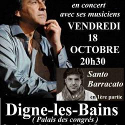 affiche concert Digne les bains vendredi 18 octobre 2013