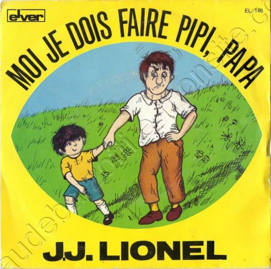 45 T extrait du 33T la danse des petits chats Moi je dois faire pipi face A chanté par JJ Lionel