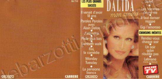 Livret du CD best of Dalida