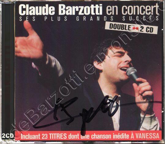 CD live Claude Barzotti en concert enregistrement au Canada