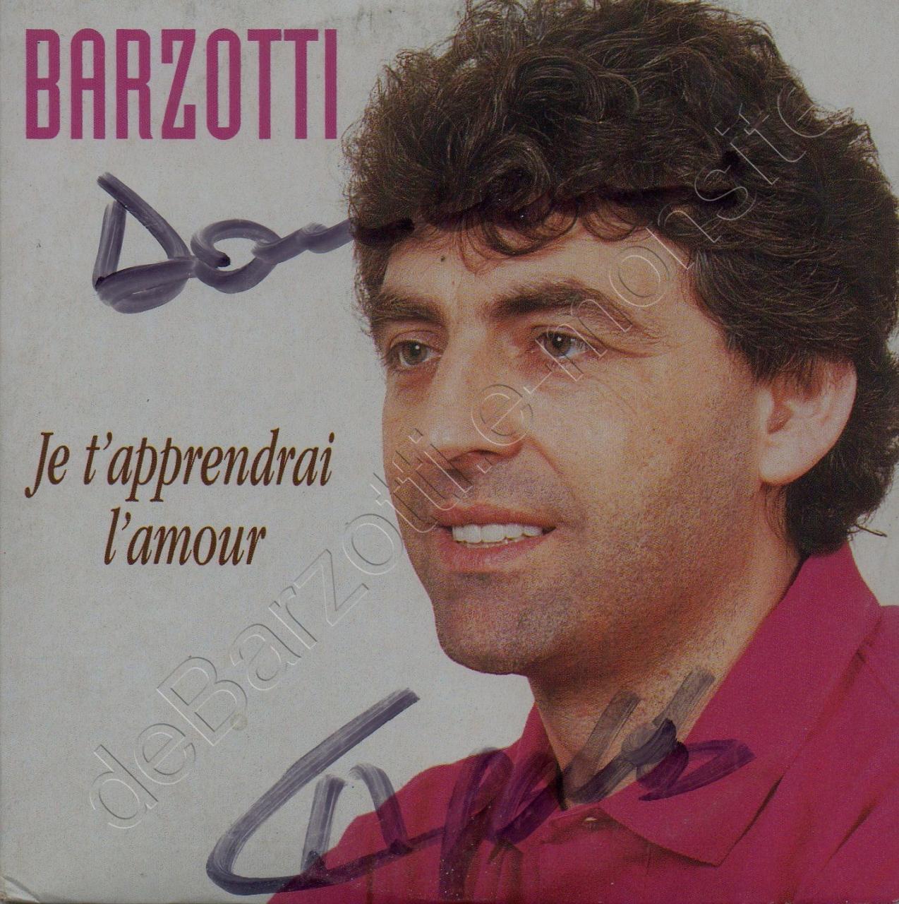 CD 2 titres Je t'apprendrai l'amour /Passion blanche (version 1)